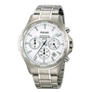 Pasek do zegarka Pulsar VD53-X064 / PT3211X1 Tytan Szary 20mm