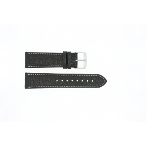 Pasek do zegarka Uniwersalny 307L.01 XL Skórzany Czarny 24mm