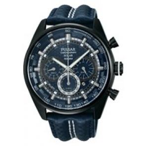 Pasek do zegarka Pulsar VS75-X004 / PX5043X1 Nylon/perlon Niebieski 24mm