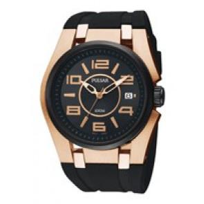 Pulsar horlogeband PXH570X1 / VX42 X198 Rubber Zwart