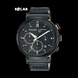 Pasek do zegarka Pulsar PZ5071X1 Skórzany Czarny 22mm