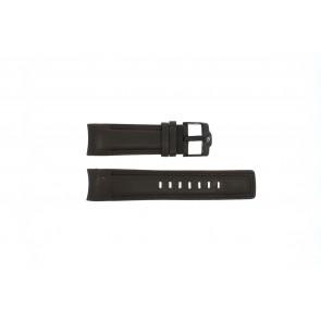 Rip Curl horlogeband DBR24DBR Leder Donkerbruin 24mm + bruin stiksel