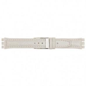 Pasek Do Zegarka Dla Swatch Biały 19mm 20M