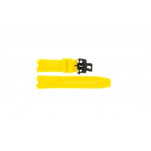 Pasek do zegarka Roamer 750837493507 Krzem Żółty 24mm