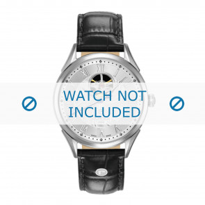 Pasek do zegarka Roamer 550661-41-22-05 Skórzany Czarny 20mm