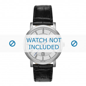 Roamer horlogeband 709856-41-12-07 Leder Zwart 20mm + standaard stiksel