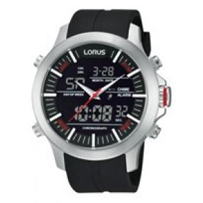 Pasek do zegarka Lorus Z021-X002-RW607AX9 Gumowy Czarny 21mm