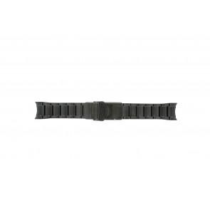 Seiko horlogeband V157-0AS0 Staal Zwart 22mm