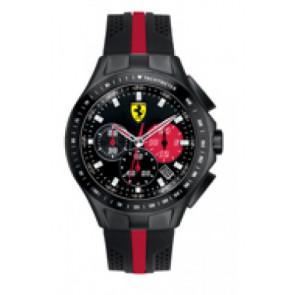 Pasek do zegarka Ferrari SF-03-1-34-0015 / 689300022 Krzem Czarny 22mm