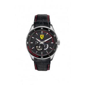 Pasek do zegarka Ferrari SF-11-1-34-0043 Skórzany Czarny