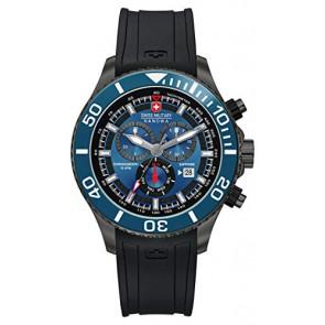 Pasek do zegarka Swiss Military Hanowa 06-4226.30.003-SM34223AEU Gumowy Czarny 22mm