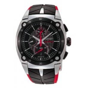Pasek do zegarka Seiko 7T82-0AF0 / SPC009P1 Gumowy Czarny