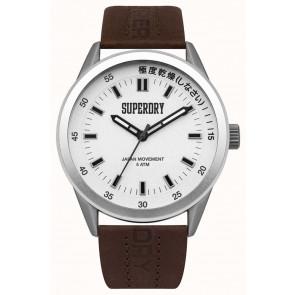 Pasek do zegarka Superdry SYG207TS / 222793 Skórzany Brązowy