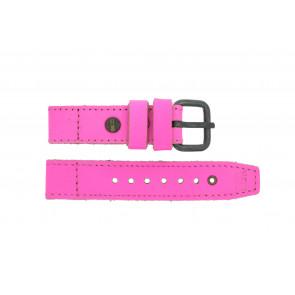 Pasek do zegarka Superdry SYL115P Skórzany Różowy 20mm