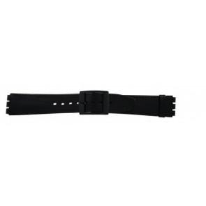 Pasek do zegarka Swatch (alt.) SC15.01 Skórzany Czarny 16mm