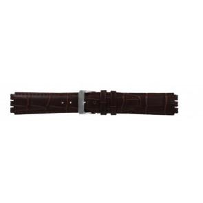 Strap Dla Swatch Prawdziwy Skóra Ciemny Brązowy 17mm 21414