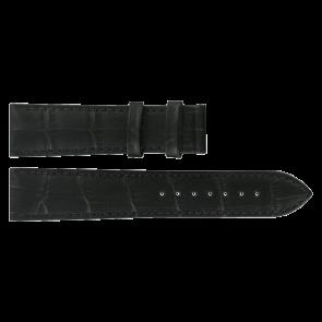 Pasek do zegarka Tissot T0636101605800 / T610031945 Skórzany Czarny 20mm