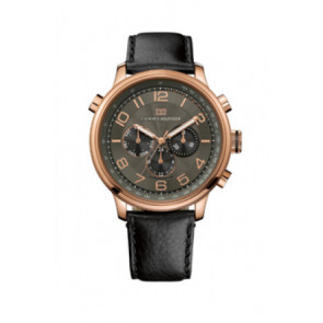Pasek do zegarka Tommy Hilfiger TH.145.1.34.1051 Skórzany Czarny