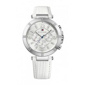 Pasek do zegarka Tommy Hilfiger TH-246-3-14-1852S Skórzany Biały