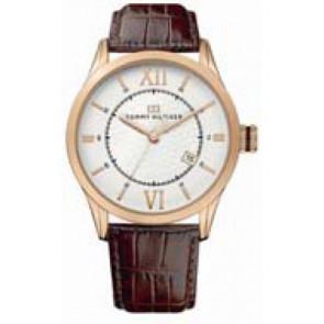 Pasek do zegarka Tommy Hilfiger TH-85-1-34-0816 - TH679301079 Skórzany Brązowy 21mm
