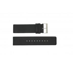 Pasek do zegarka Obaku V116 Skórzany Czarny 24mm