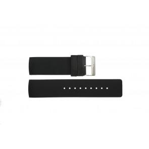 Pasek do zegarka Obaku V118L Gumowy Czarny 24mm