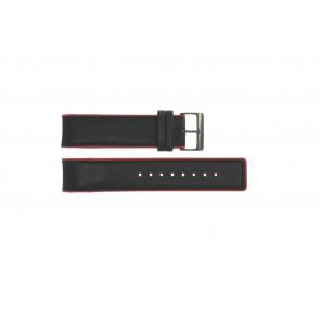 Pasek do zegarka Obaku V141 Skórzany Czarny 22mm