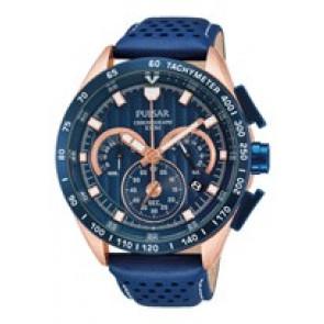 Pasek do zegarka Pulsar VK63-X001-PU2082X1 Skórzany Niebieski