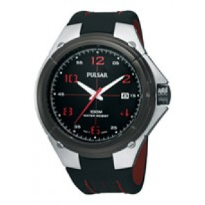 Pasek do zegarka Pulsar VX42-X283-PXH797X1 Skórzany Czarny
