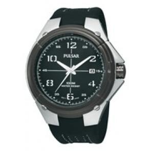 Pasek do zegarka Pulsar VX42-X283-PXH799X1 Skórzany Czarny