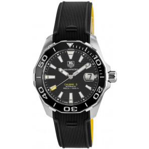 Pasek do zegarka Tag Heuer WAY211A / FT6068 Gumowy Czarny 21mm