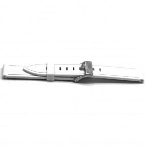 Pasek Do Zegarka Guma 22mm Biały Ex Xh21