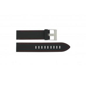 Pasek do zegarka Uniwersalny XH19 Krzem Czarny 22mm