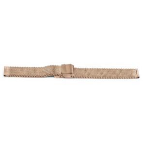 Pasek do zegarka Uniwersalny YF101 Stal Róża 18mm