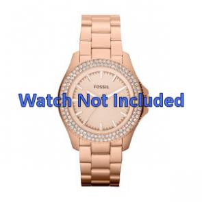 Pasek do zegarka Fossil AM4454 Stal Róża 18mm