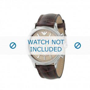 Pasek do zegarka Armani AR0562 Skórzany Brązowy 21mm