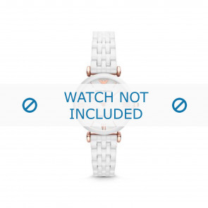 Armani horlogeband AR1486 Keramiek Wit