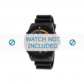 Armani horlogeband AR5969 Rubber Zwart 22mm