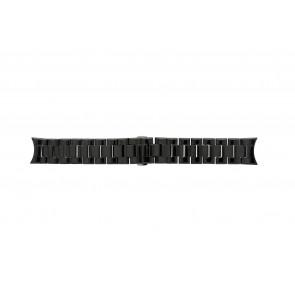 Pasek do zegarka Armani AR1400 / AR1401 Ceramika Czarny 22mm