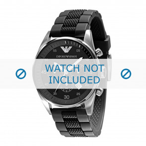 Armani horlogeband AR5866 Silicoon Zwart 23mm