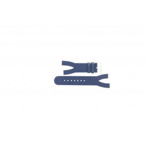 Pasek do zegarka Davis BB1403 Skórzany Niebieski 10mm
