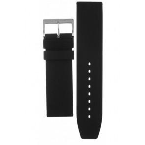 Mondaine horlogeband BM20068 / FP9624.20Q.1 RUBB. Rubber Zwart 24mm