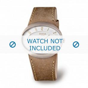 Boccia horlogeband 3165.01 Leder Bruin 26mm + bruin stiksel