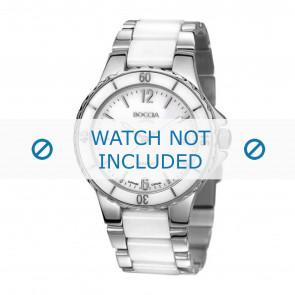 Boccia horlogeband 3215.01 Keramiek Wit