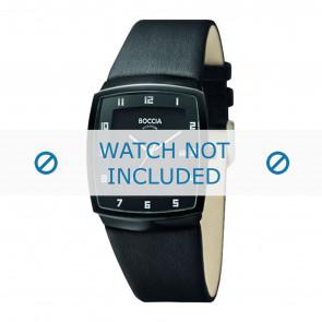 Boccia horlogeband 3541.03 Leder Zwart