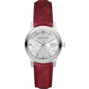 Pasek do zegarka Burberry bu9152 Skórzany Czerwony