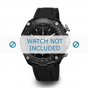 Buddha to Buddha horlogeband BTB.M.D.3H.04 / BTB.M.D.3H.03 Rubber Zwart