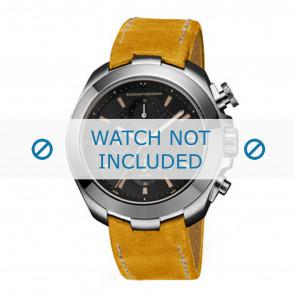 Buddha to Buddha horlogeband BTB.M.R.CH.06 Leder Geel + wit stiksel