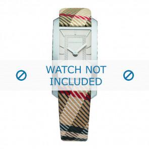 Burberry horlogeband BU1051 Leder Bruin