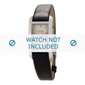 Burberry horlogeband BU1053 Glad leder Zwart